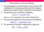 description of sound waves