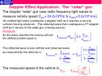doppler effect application the radar gun