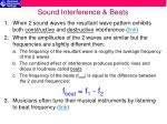 sound interference beats