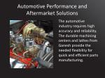 automotive performance and aftermarket solutions