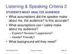 listening speaking criteria 2
