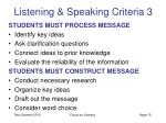 listening speaking criteria 3