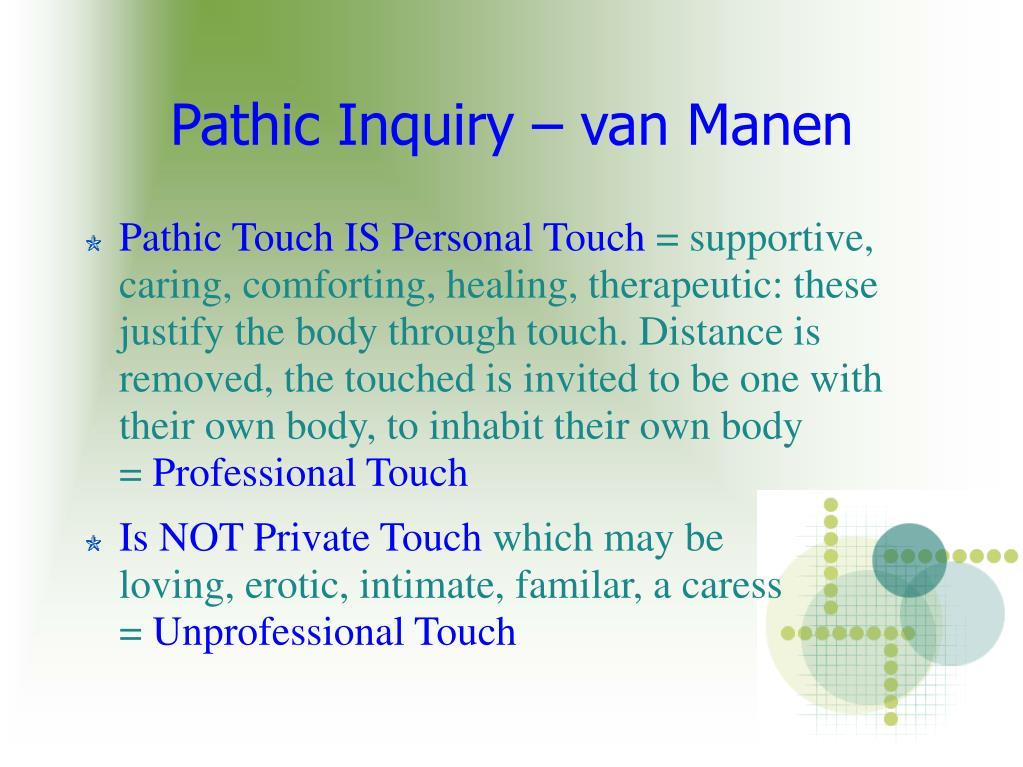 pathic inquiry van manen l.