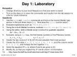 day 1 laboratory
