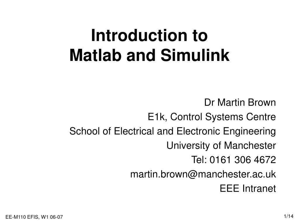 introduction to matlab and simulink l.