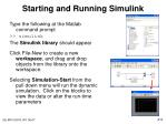 starting and running simulink