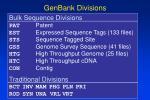 genbank divisions