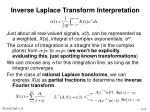 inverse laplace transform interpretation