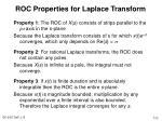 roc properties for laplace transform