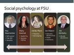 social psychology at fsu