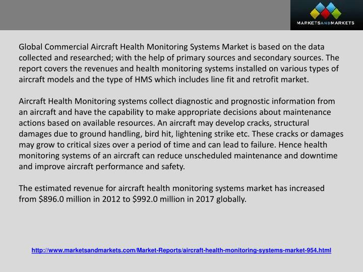 Global Commercial Aircraft Health Monitoring Systems Market is based on the data collected and resea...