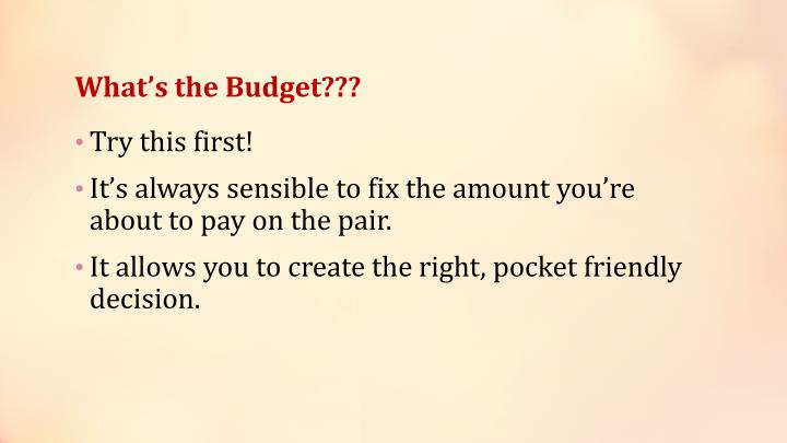 What s the budget