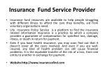 insurance fund service provider