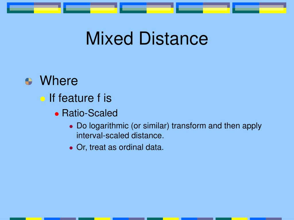 Mixed Distance