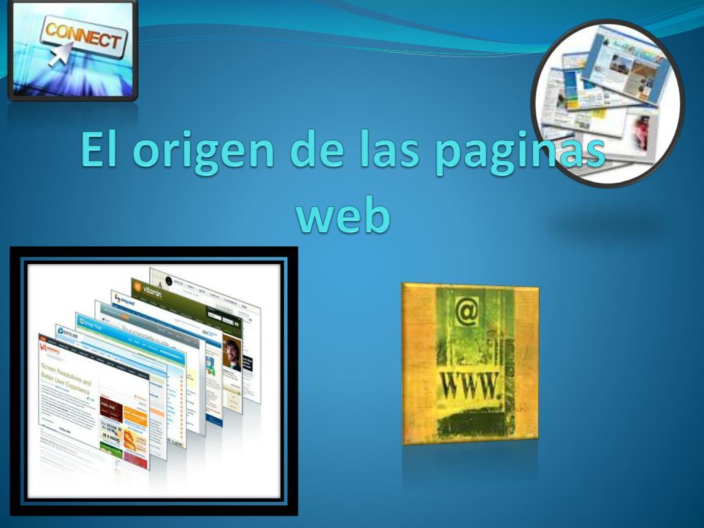 el origen de las paginas web l.