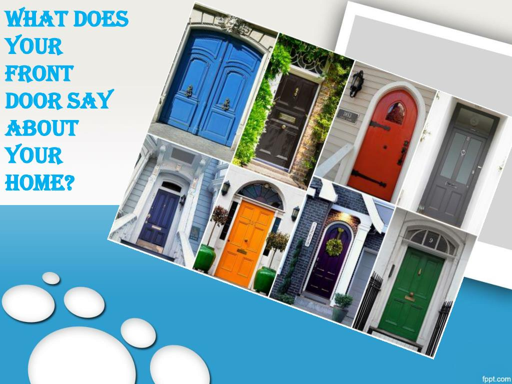 what does your front door say about your home l.