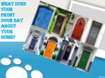 what does your front door say about your home