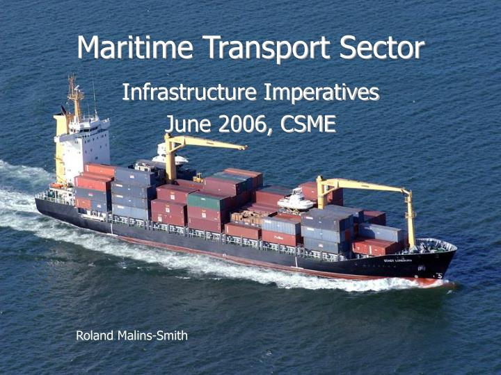 maritime transport sector n.