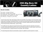 cnc big bore oil country lathes