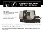 cyclone 52 by2 b axis cnc turn mill center