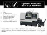 cyclone multi axis ncy cs machines