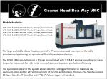 geared head box way vmc