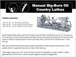 manual big bore oil country lathes