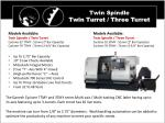 twin spindle twin turret three turret