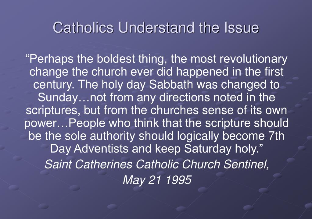 Catholics Understand the Issue