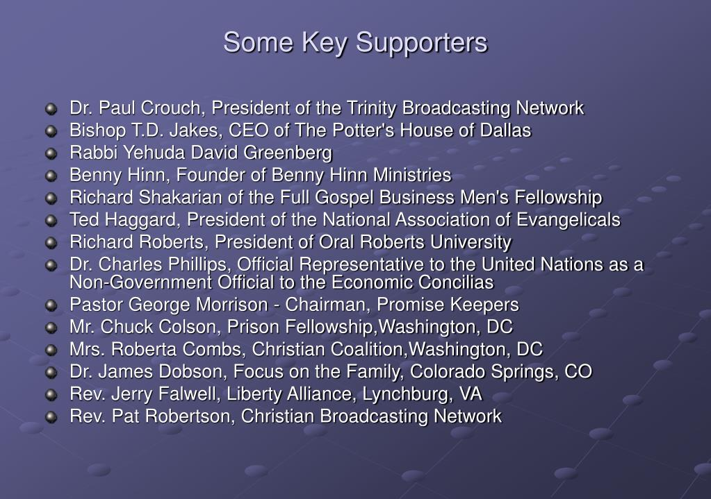 Some Key Supporters