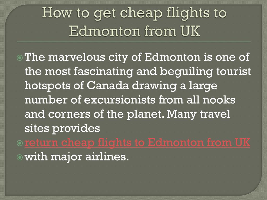 how to get cheap flights to edmonton from uk l.