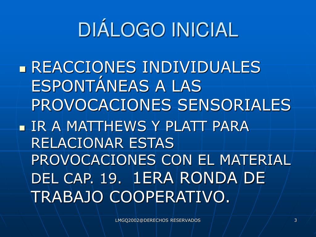 DIÁLOGO INICIAL