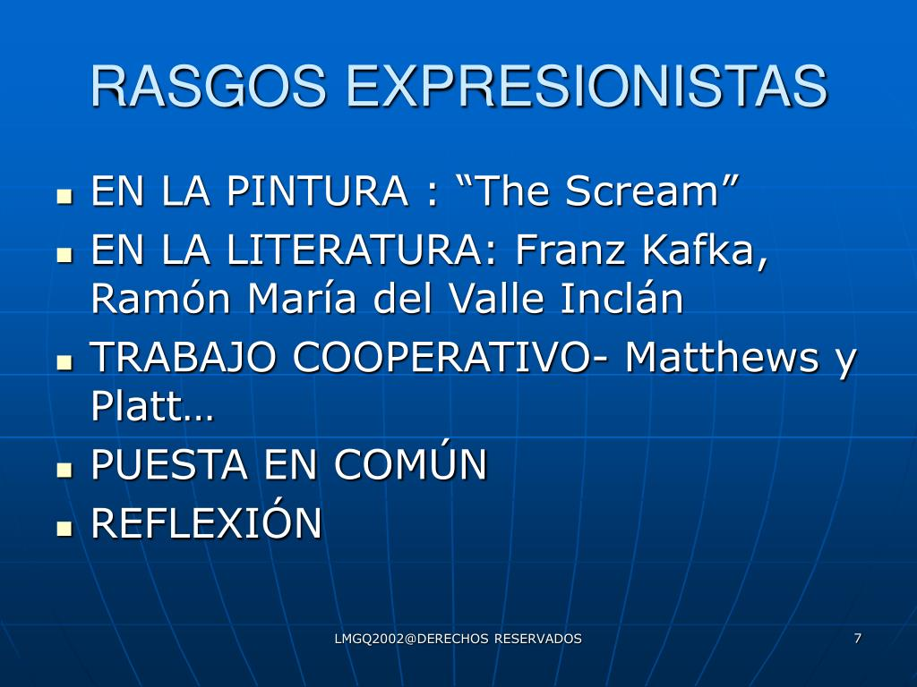 RASGOS EXPRESIONISTAS