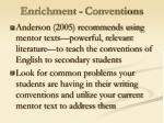 enrichment conventions