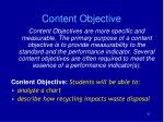 content objective