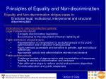 principles of equality and non discrimination