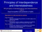 principles of interdependence and interrelatedness