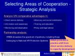 selecting areas of cooperation strategic analysis