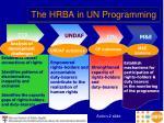 the hrba in un programming