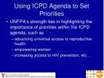 using icpd agenda to set priorities
