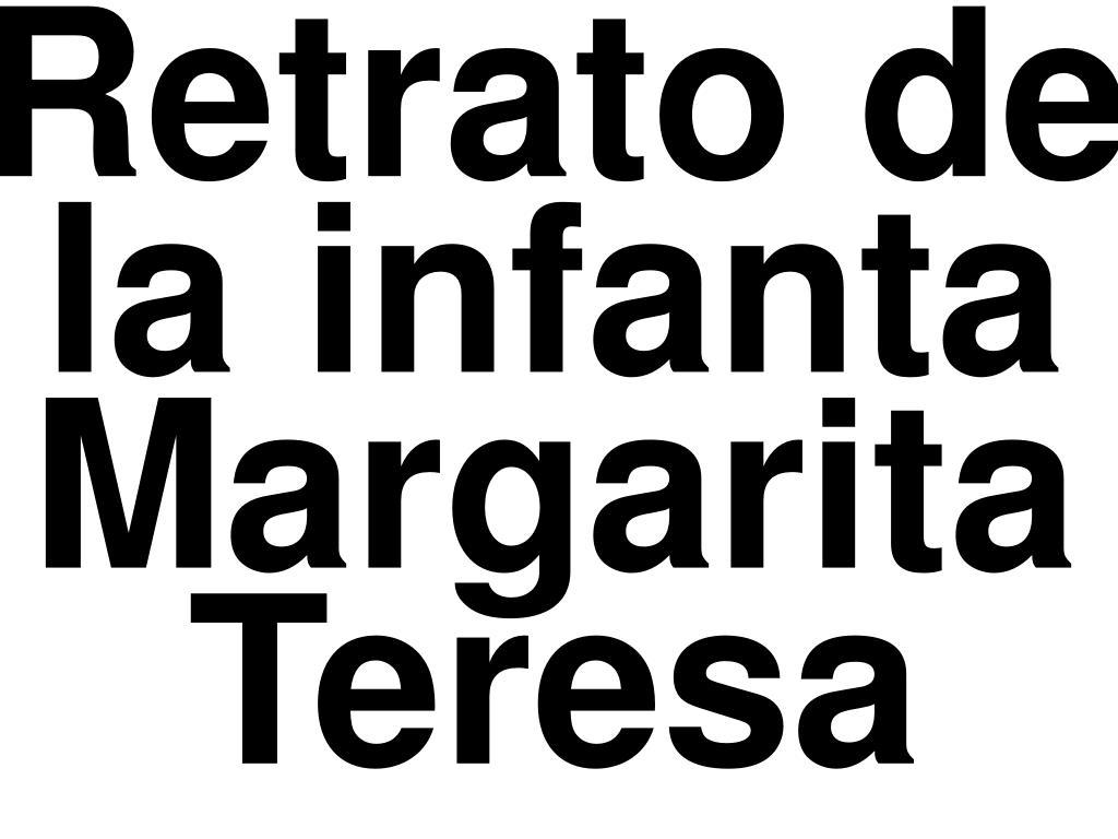 Retrato de la infanta Margarita Teresa