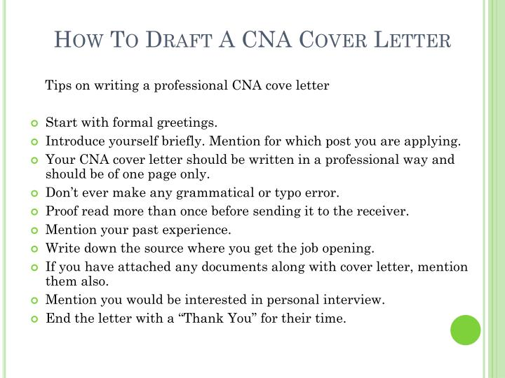How to draft a cna cover letter2