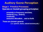 auditory scene perception