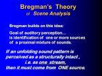 bregman s theory of scene analysis