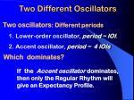 two different oscillators