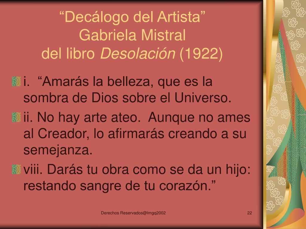 """""""Decálogo del Artista"""""""