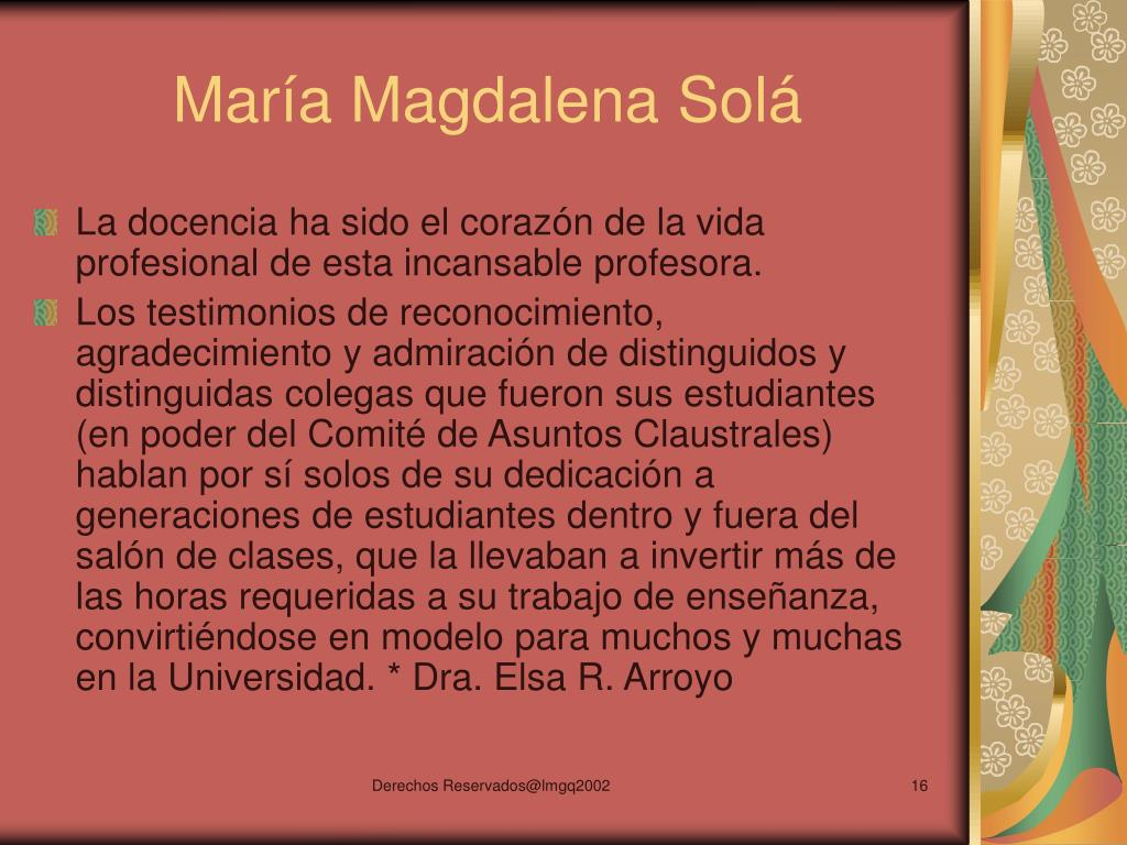 María Magdalena Solá