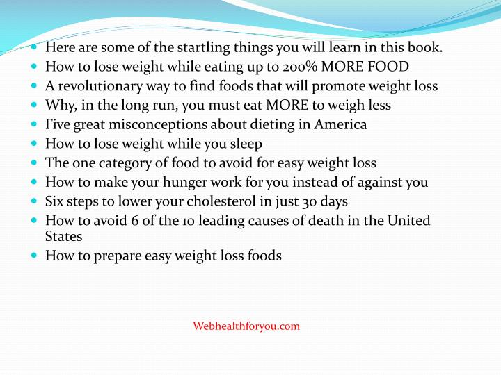 Here are some of the startling things you will learn in this book.