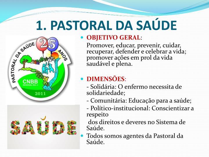 1. PASTORAL DA SAÚDE