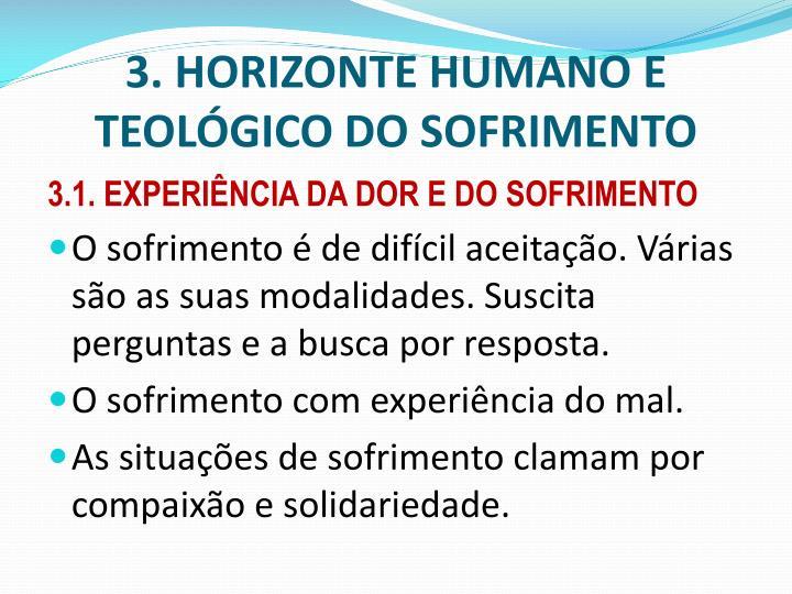 3. HORIZONTE HUMANO E